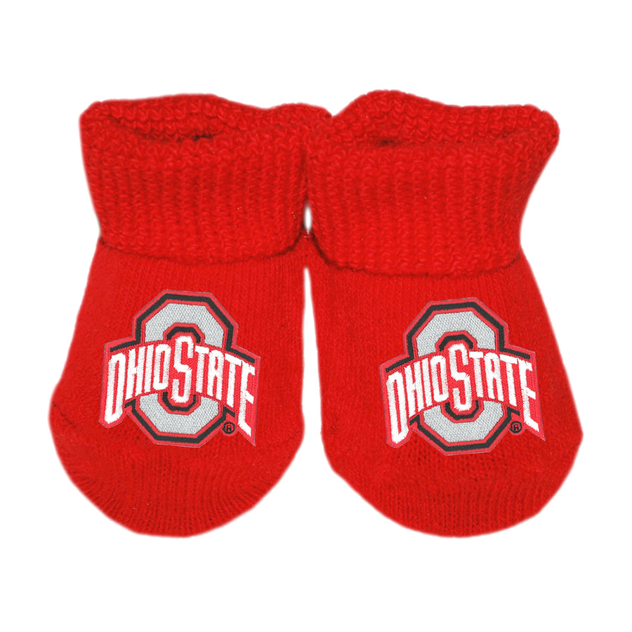 6b9f69f90d0 Creative Knitwear OSU Ohio State University College Football Red Socks  Booties Baby Newborn Infant Tadpoles