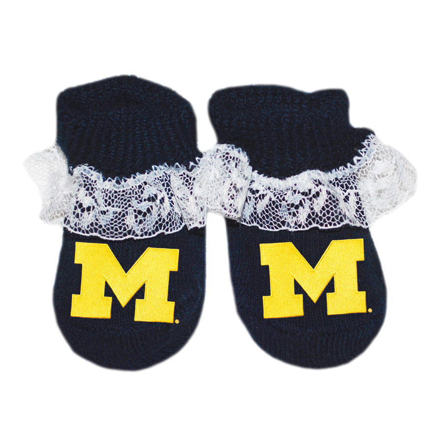 U of M Lace Booties - Navy