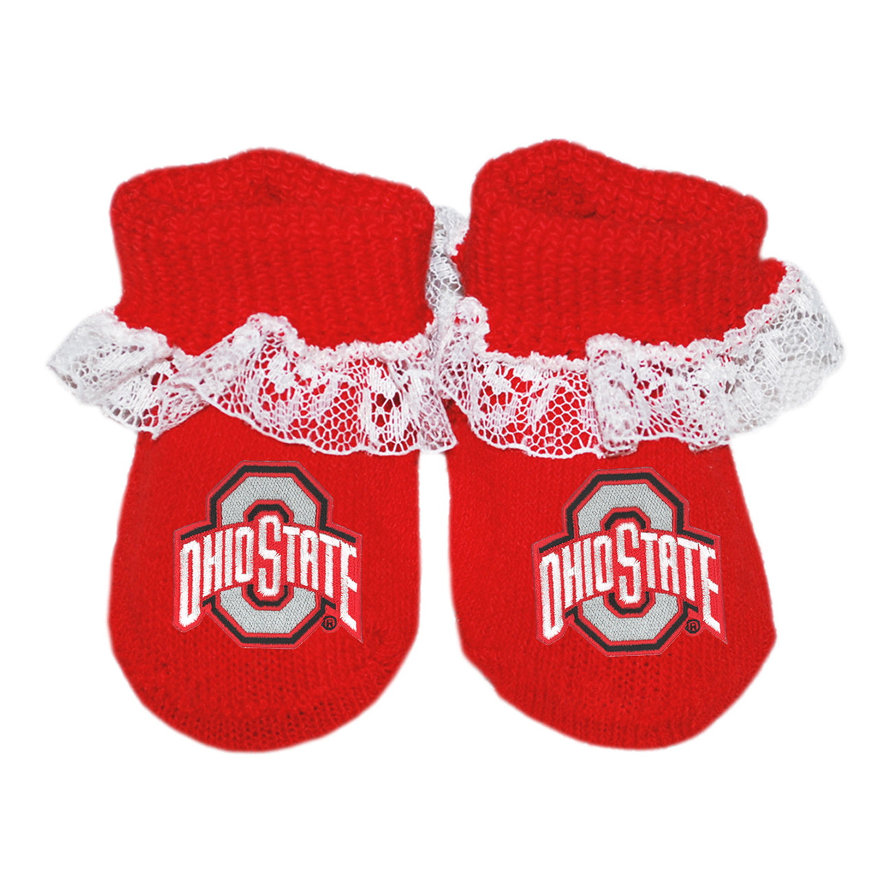 Ohio State University Red Lace Booties