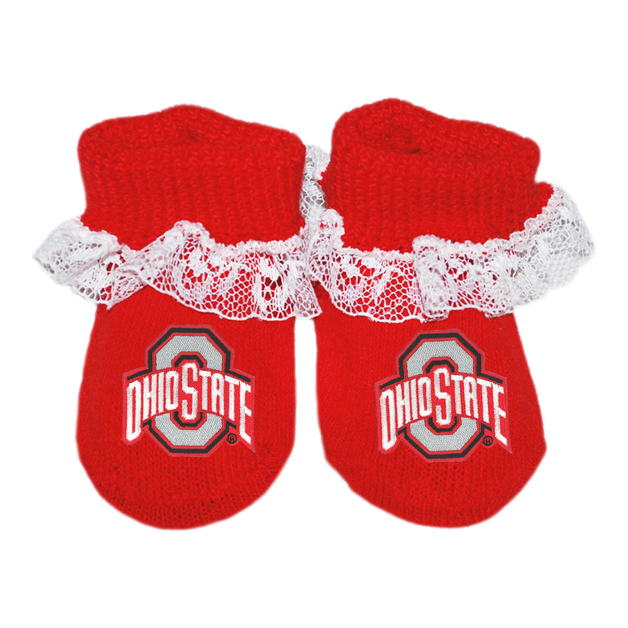 OSU Lace Booties - Red