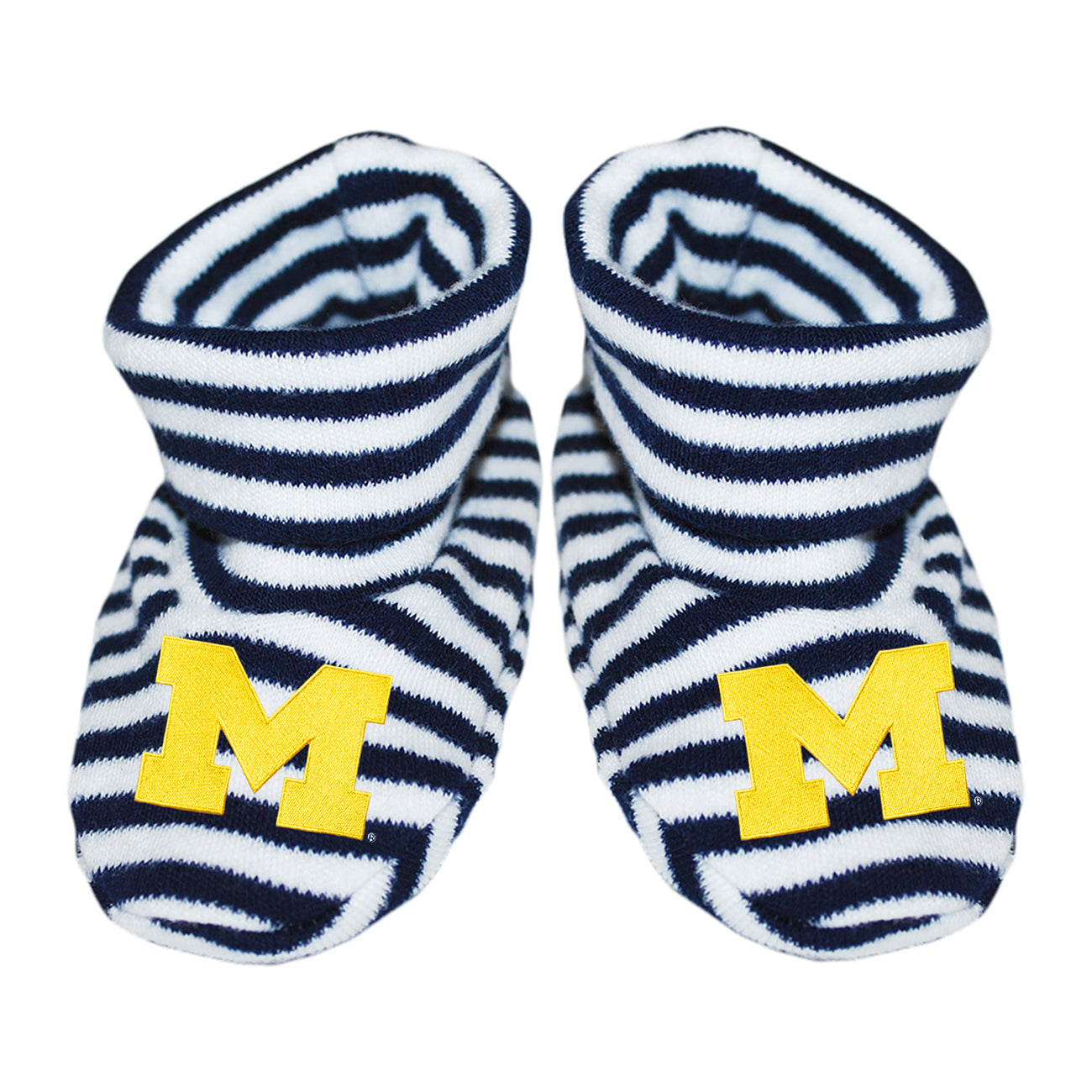 U of M Striped Booties