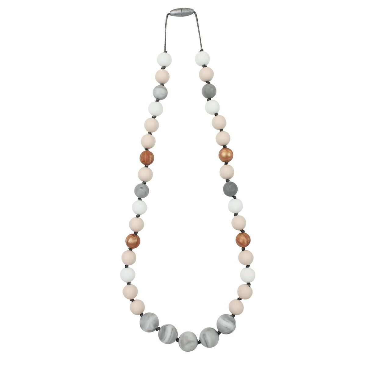 Teething Necklace-Peach Sunrise
