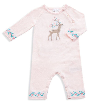 Pink Wild Deer Knit Coverall
