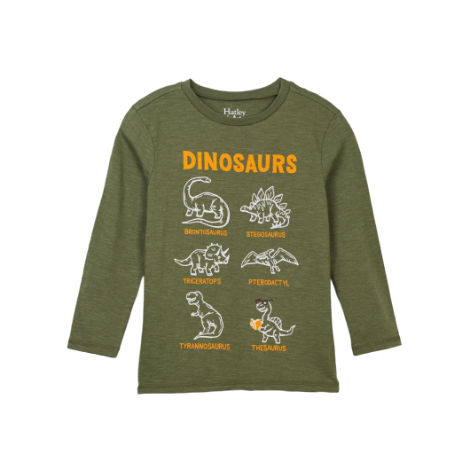 Dino Chart Long Sleeve Tee