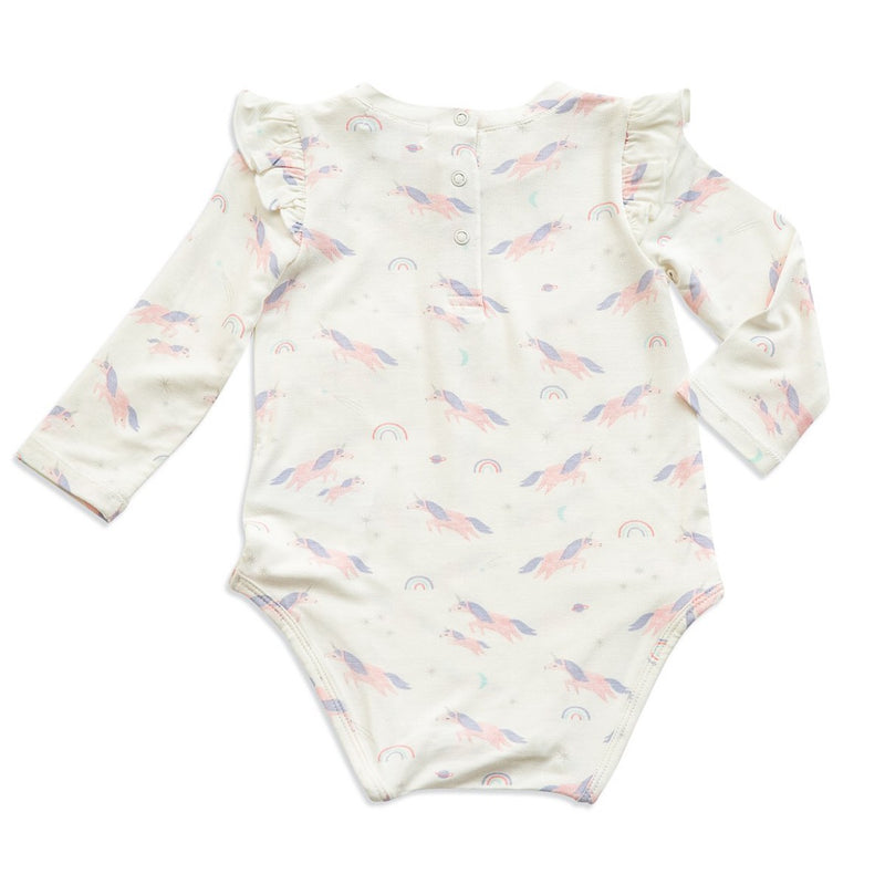 Cosmic Unicorn Ruffle Bodysuit