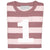 Number 1 Long Sleeve Tee-Vintage Pink Stripe
