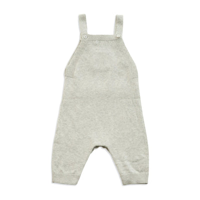 Light Grey Heather Knit Pocket Overall