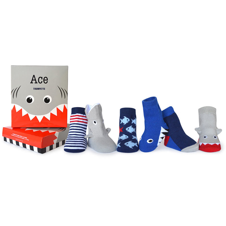 Trumpette Ace Shark Nautical Socks Baby Boy Tadpoles & Tiddlers Cleveland Bath Akron Ohio