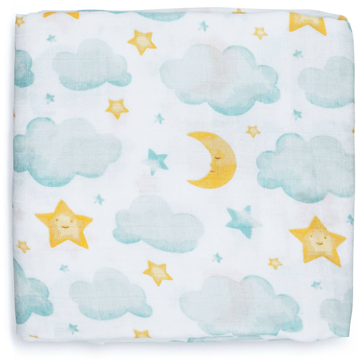 Moon and Stars Swaddle Blanket