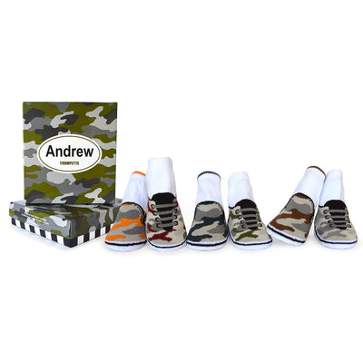 Trumpette Andrew Camouflage Sneaker Socks Baby Boy Tadpoles & Tiddlers Cleveland Bath Akron Ohio