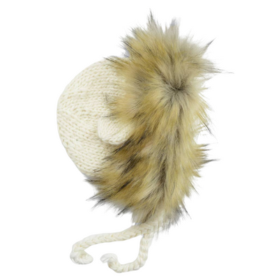 Ivory Lennon Lion Knit Hat