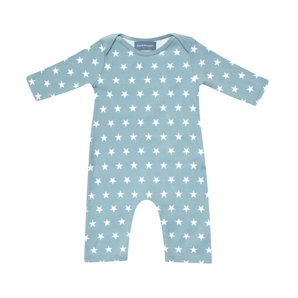 Misty Blue & White Star Coverall