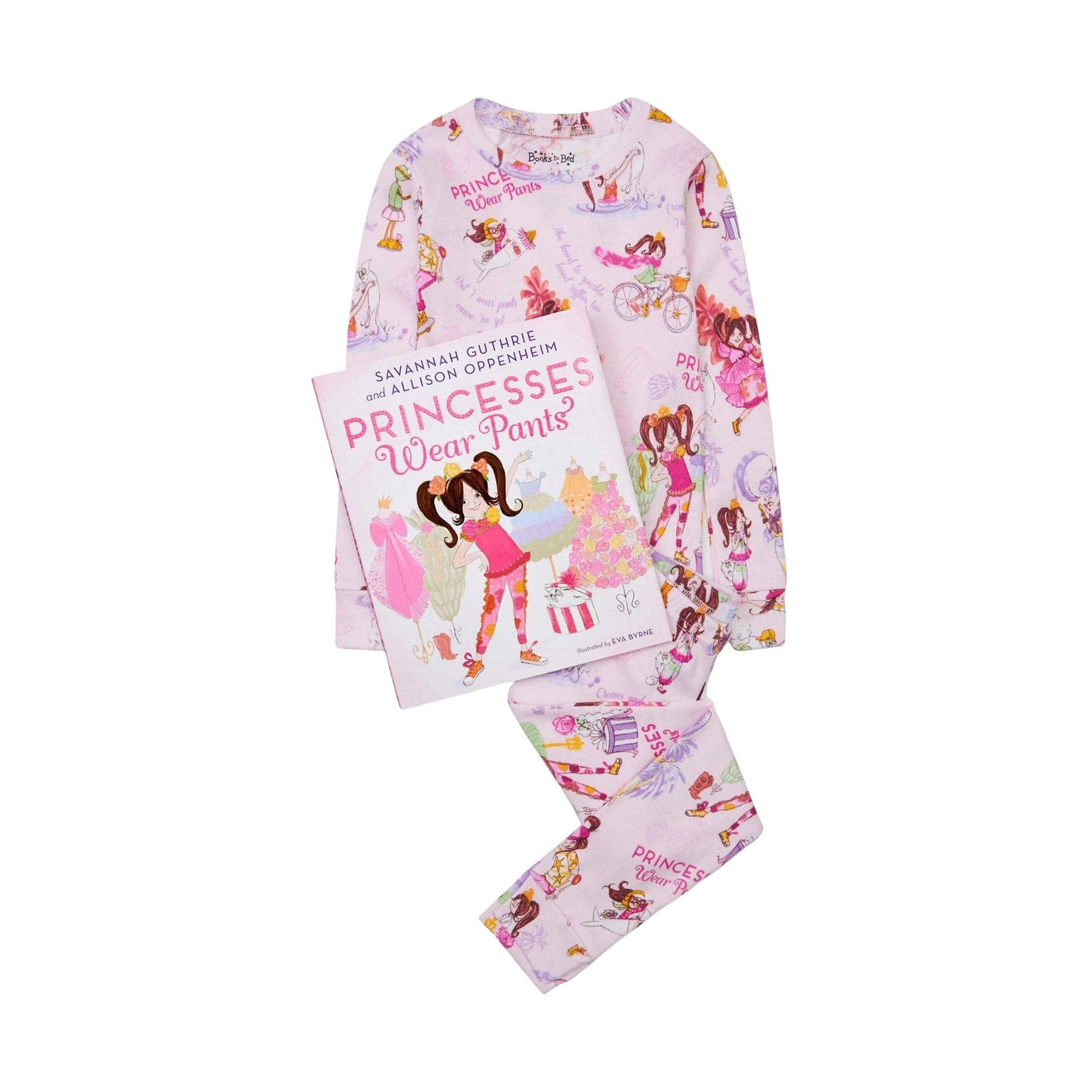 """Princesses Wear Pants"" Pajama & Book Set"