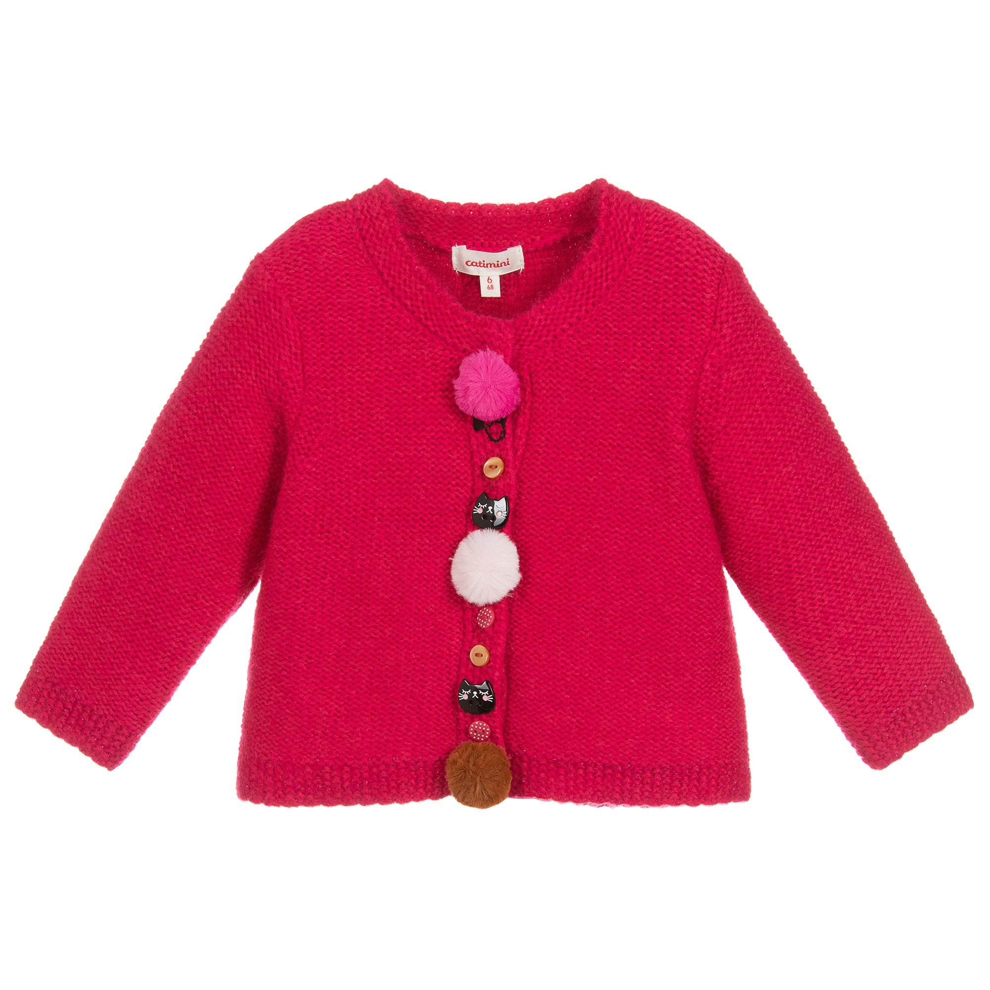 Fuchsia Kitty Cardigan