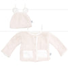 Little Giraffe Cream Stretch Chenille Satin Hat Cardigan Set Baby Neutral Tadpoles & Tiddlers Akron Cleveland Bath Ohio