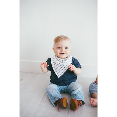 Copper Pearl Bandana Bib-Arrow
