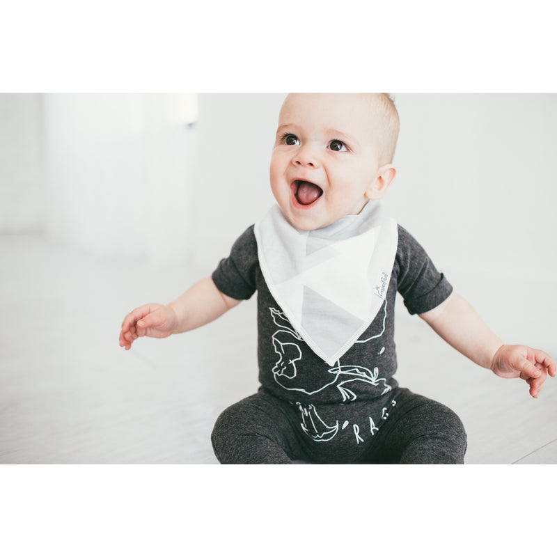 Copper Pearl Bandana Bib-Color Block
