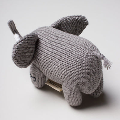 Elephant Knit Rattle