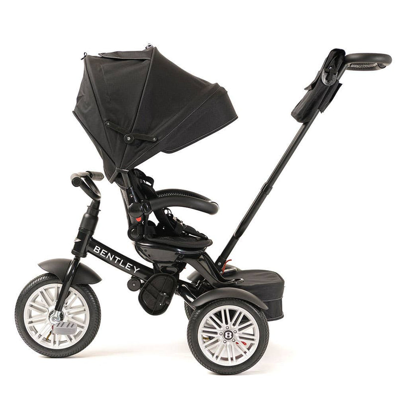 6 in 1 Black Bentley Stroller Trike