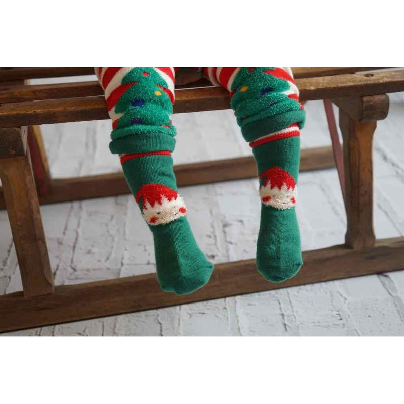 Fluffy Elf Socks