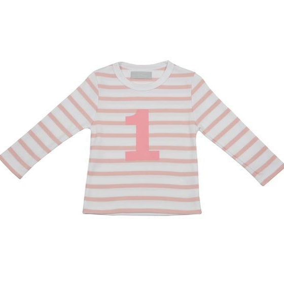 Number 1 Long Sleeve Tee-Dusty Pink