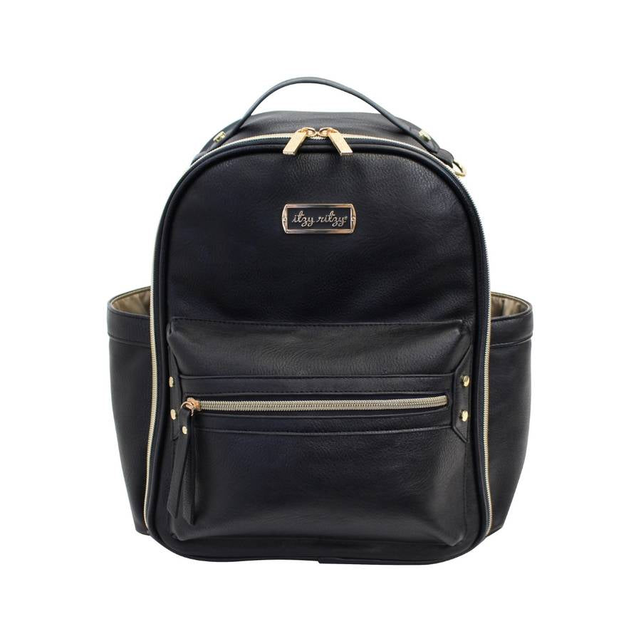 Black Mini Diaper Bag Backpack