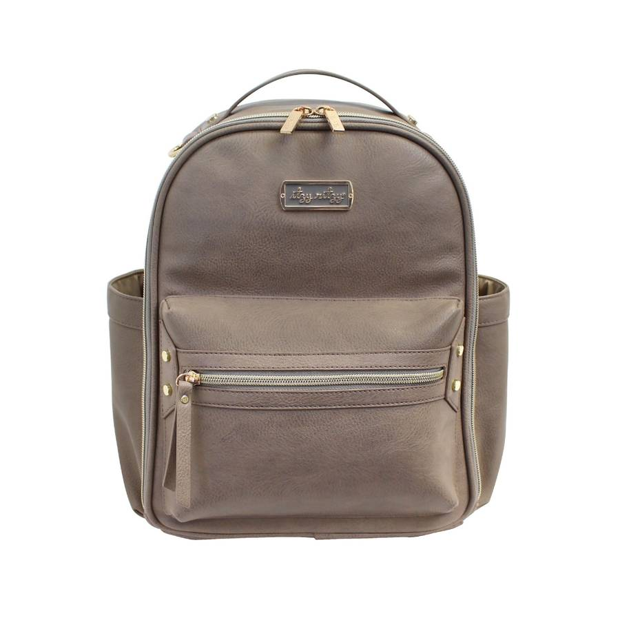 Taupe Mini Diaper Bag Backpack
