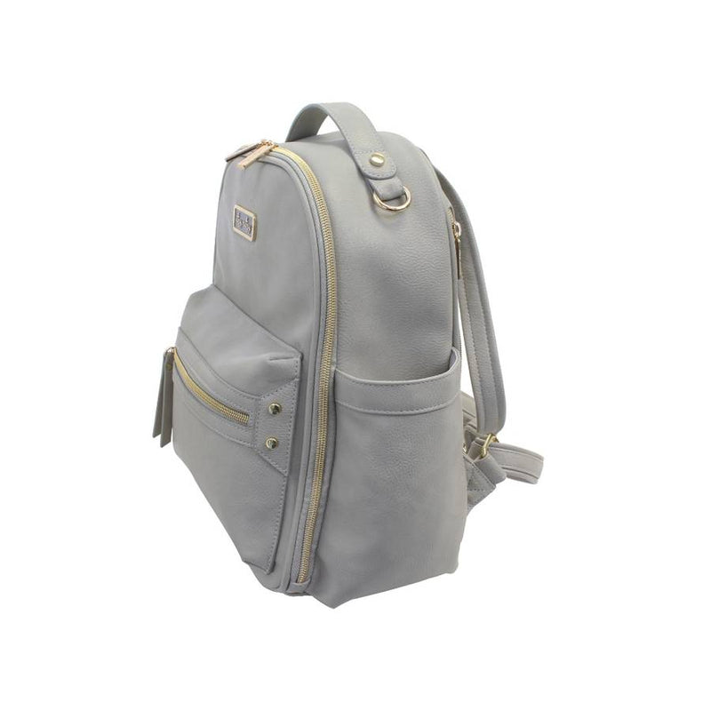 itzy ritzy gray mini backpack diaper bag mom baby shower