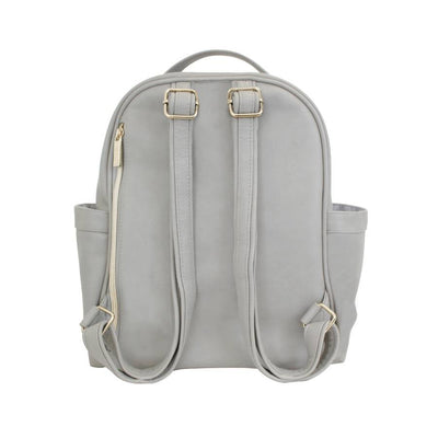 Gray Mini Diaper Bag Backpack