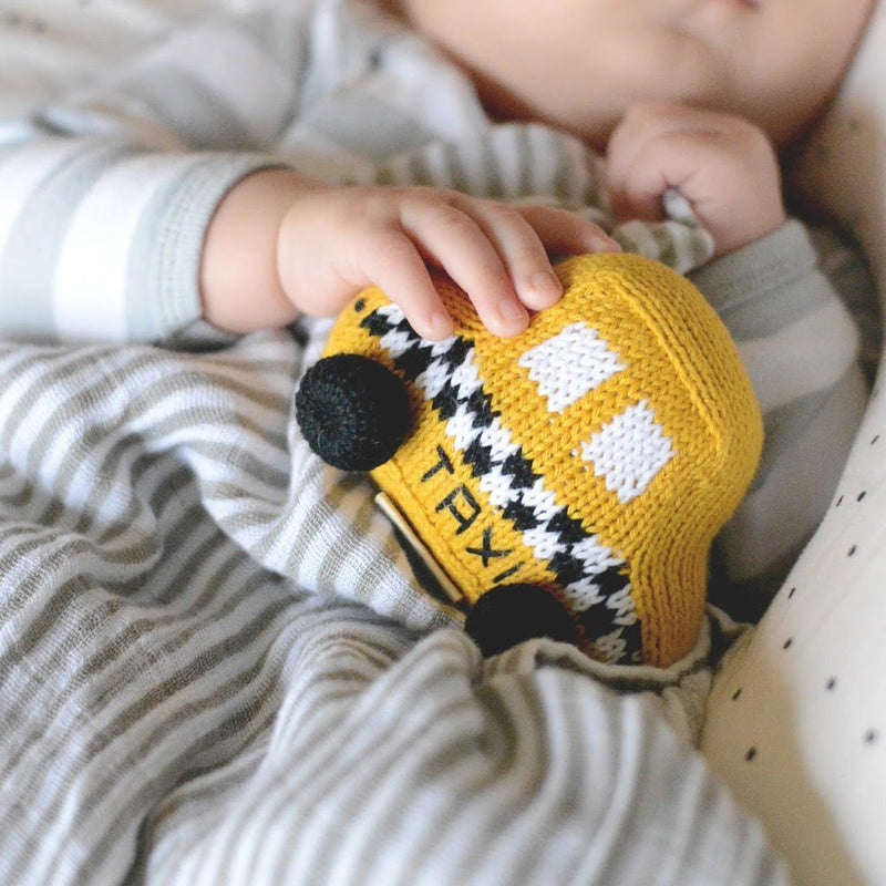 Taxi Knit Rattle