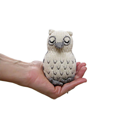 Owl Knit Rattle