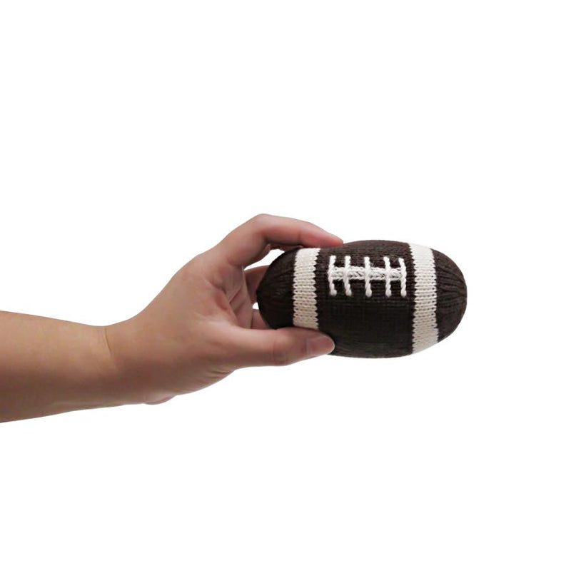 Knit Football Rattle
