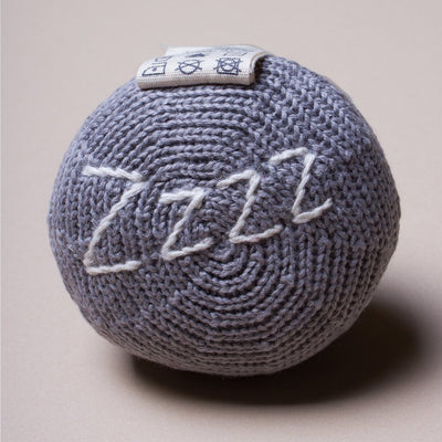 Sleeping Moon Knit Rattle