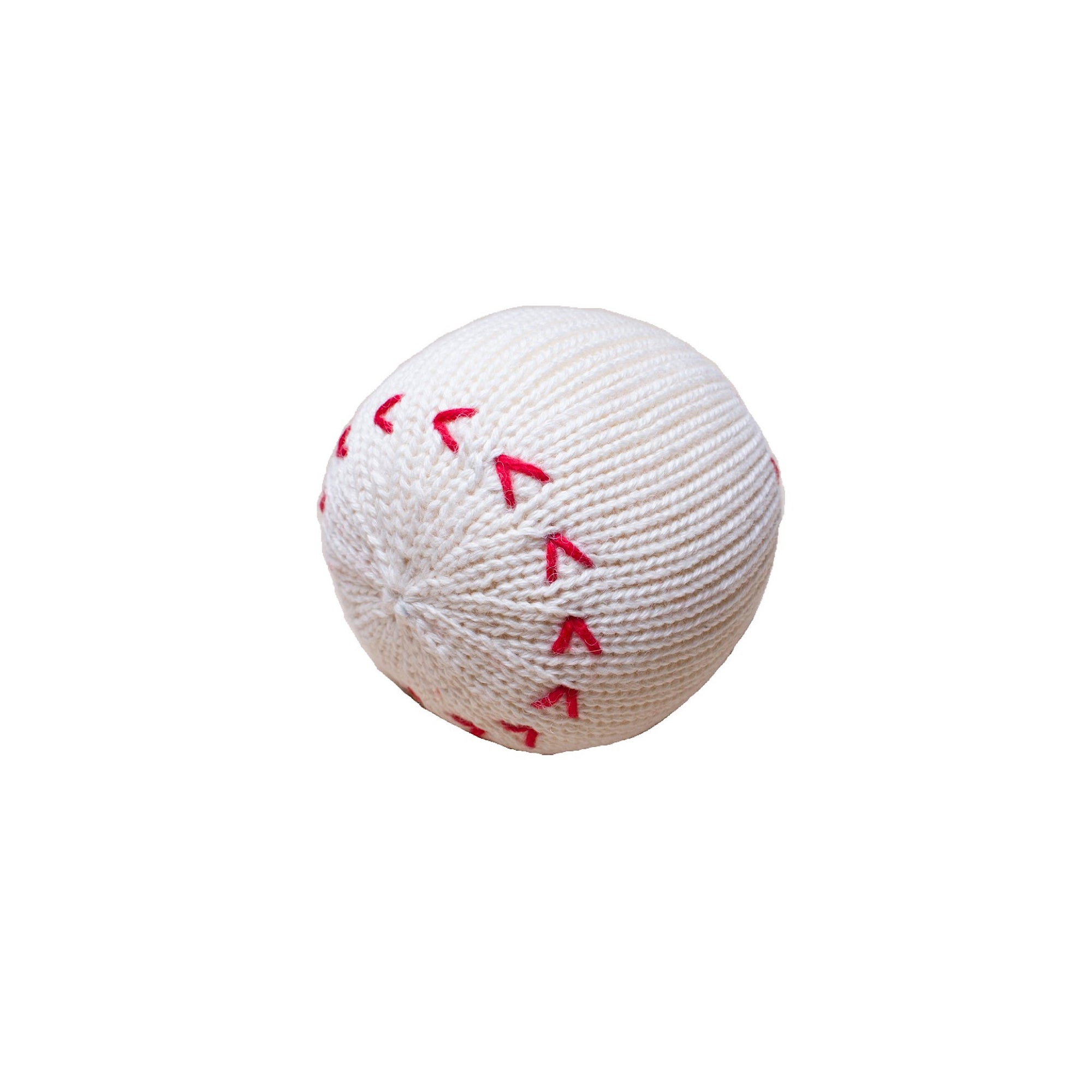 Knit Baseball Rattle