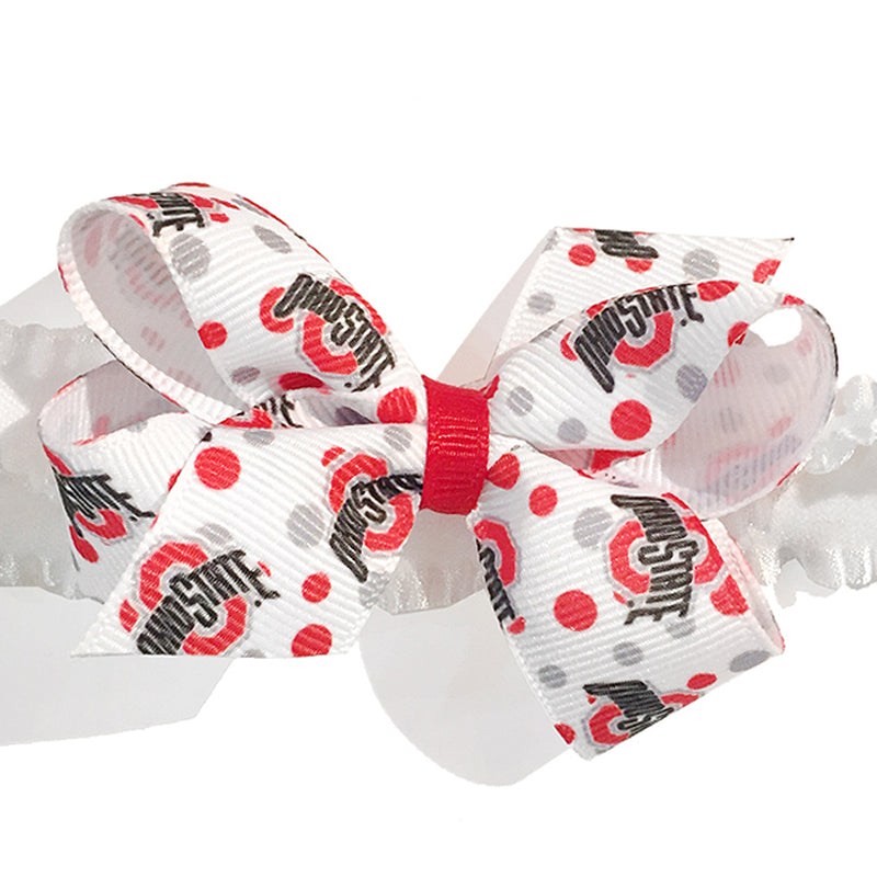 Small Ohio State University Bow Headband
