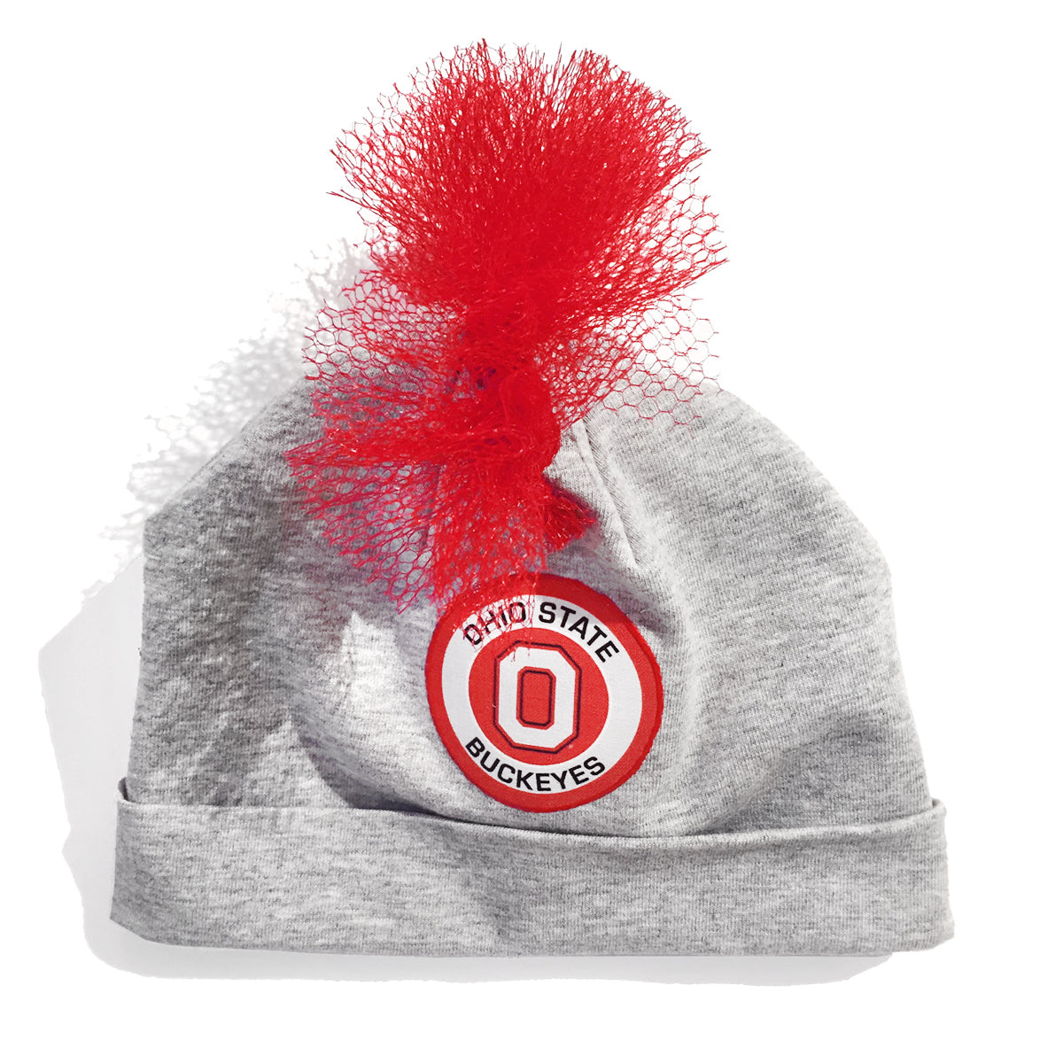 4a77a2d8562 OSU Ohio State University Football Team Grey Red Mohawk Beanie Hat Baby Boy  Tadpoles   Tiddlers