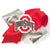 Large Ohio State University Glitter Hair Bow