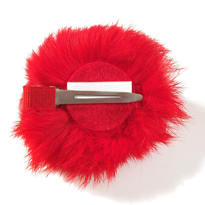 OSU Ohio State University Football Buckeyes Furry Pom Hair Clip Accessory Baby Girl Tadpoles & Tiddlers Bath Akron Cleveland Ohio