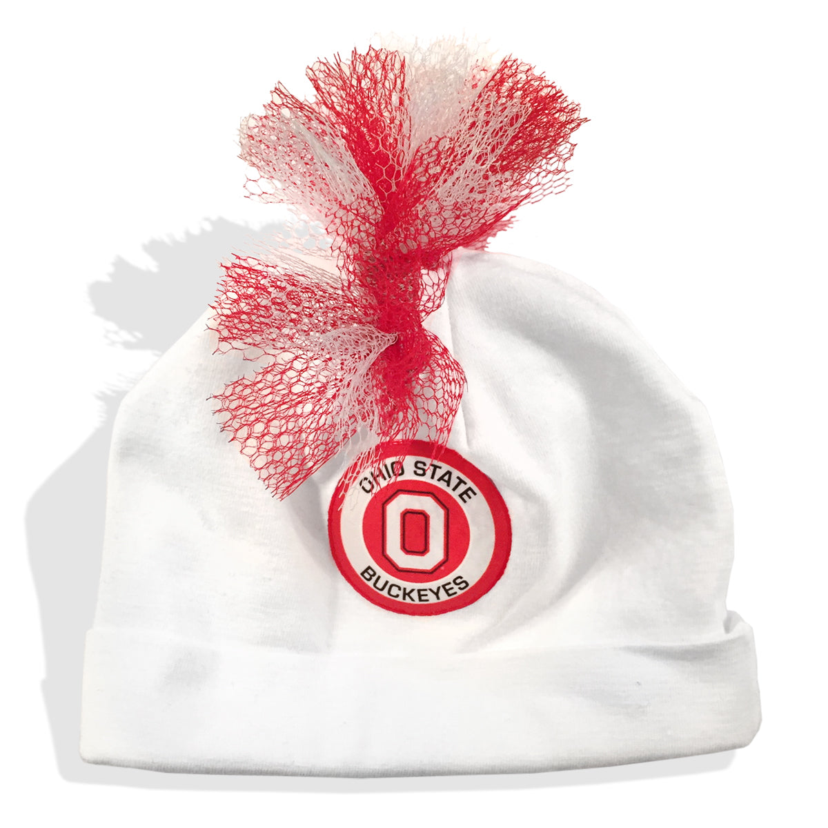 premium selection bd9b3 af0fd ... ebay osu ohio state university football red white grey mohawk beanie hat  baby boy tadpoles tiddlers ...