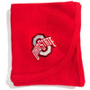Creative Knitwear Red OSU Ohio State University College Football Baby Blanket Tadpoles & Tiddlers Bath Akron Cleveland Ohio