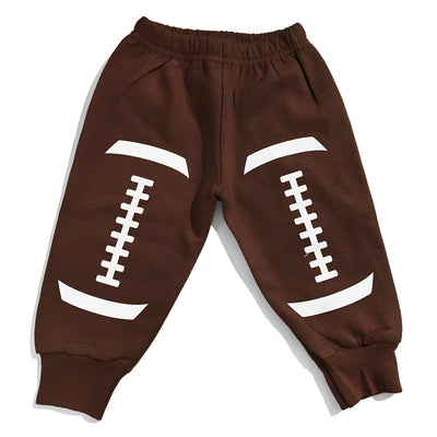 Football Sweatpants - Brown