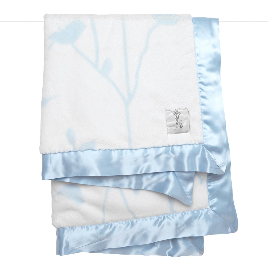 Bird Song Blanket - Blue