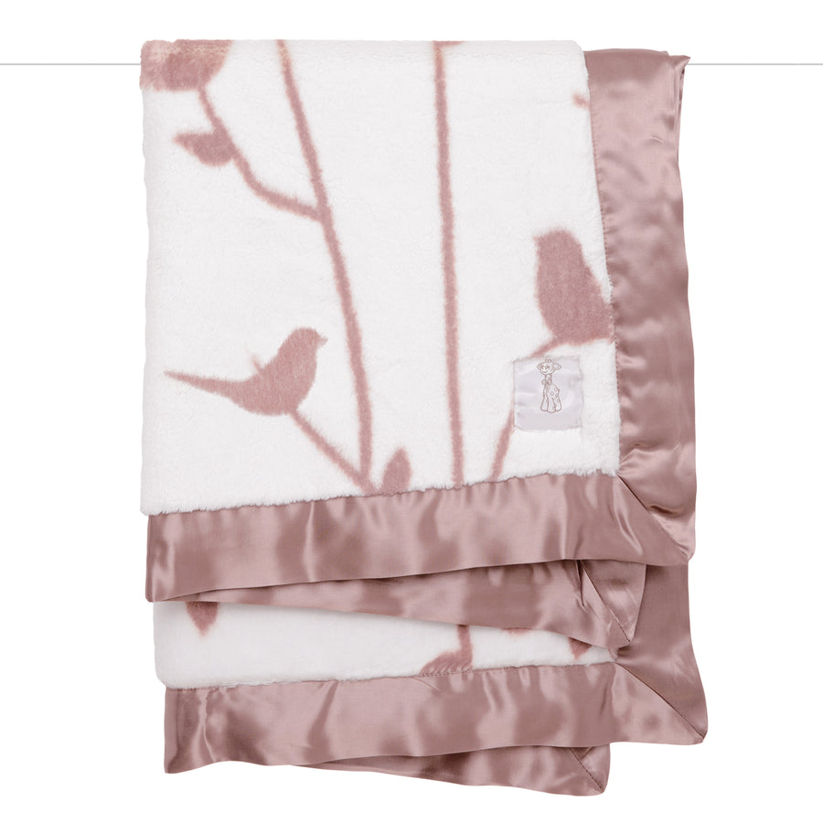 Bird Song Blanket - Dusty Pink