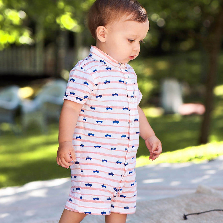 Tiny Pickup Trucks Romper