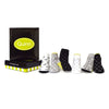 Trumpette Quin Print White Black Grey Lime Green Baby Boy Sock Set