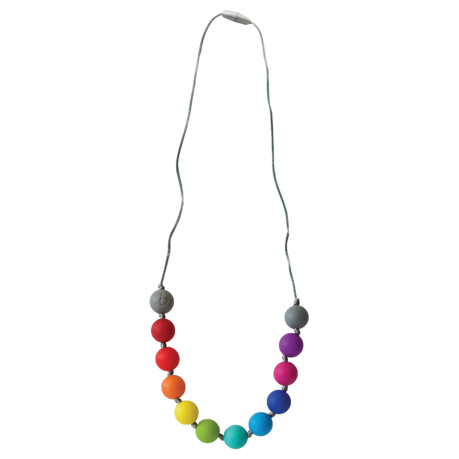 Teething Necklace-Rainbow