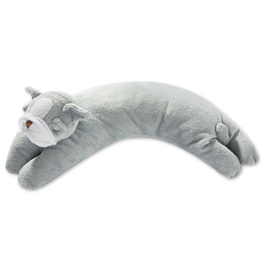 Grey Bulldog Puppy Plush Baby Nursing Pillow