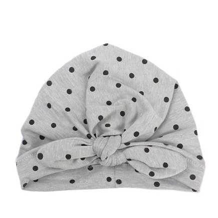 Emerson and Friends yellow turban white polka dots baby girl