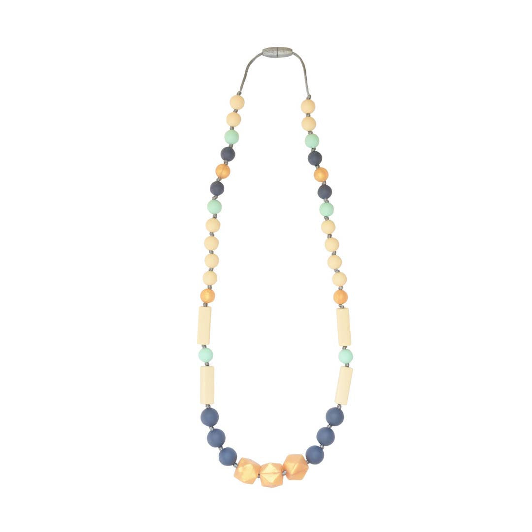 Teething Necklace-Slate Gold