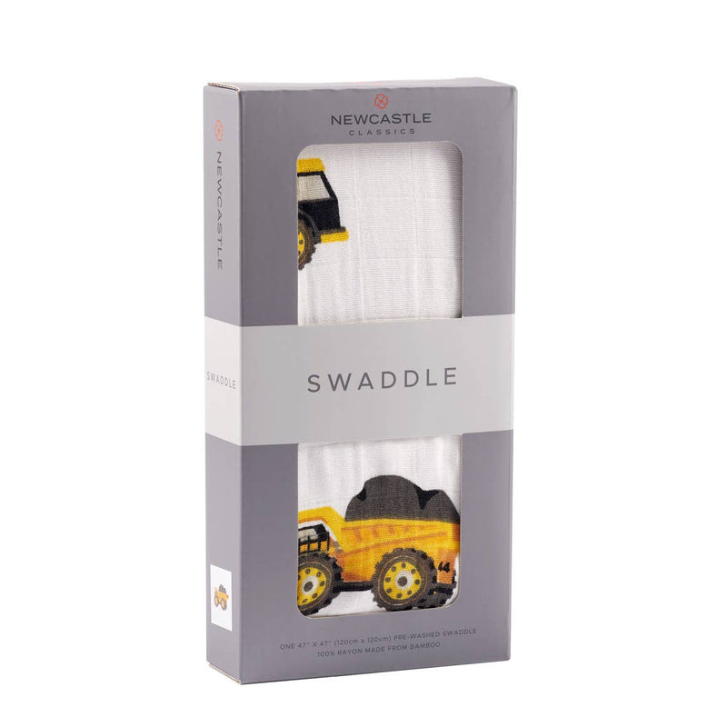 Yellow Digger Muslin Swaddle